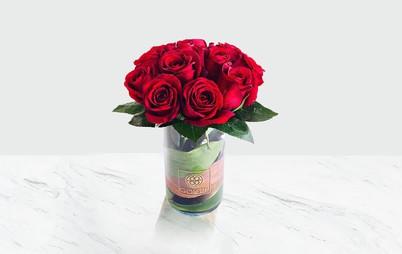 گلدان ۱۲ رز هلندی
