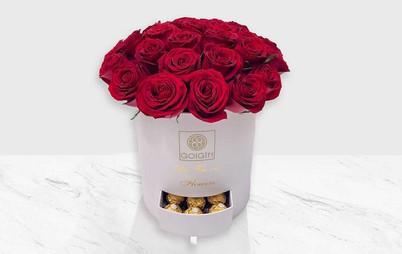 خرید باکس گل شکلات شیرین