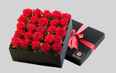 باکس گل رز 36 شاخه ای