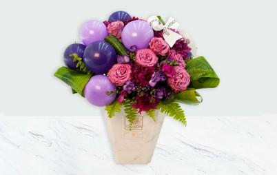 خرید باکس گل رز صورتی