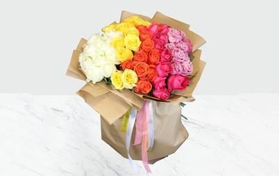 دسته گل رنگین کمان
