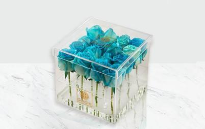 باکس گل رز هلندی آبی