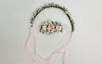 دستبند و تاج گل عروس