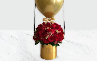 باکس طلایی لوکس گل رز