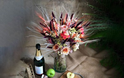 دسته گل خاص با تزیینات