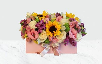 باکس گل خورشید صورتی