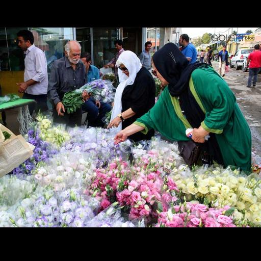 خرید گل از بازار محلاتی