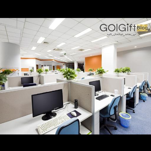 تزیین دفتر کار با گل