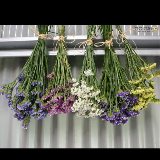 خشک کردن دسته گل طبیعی