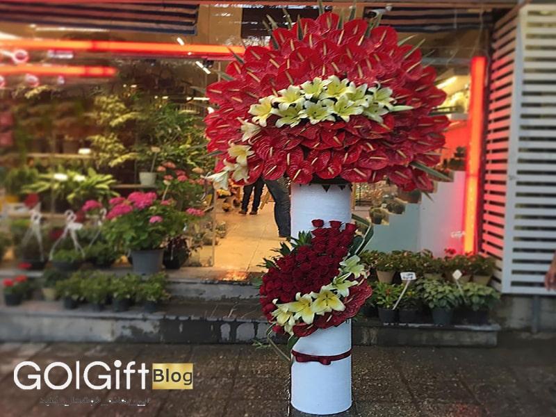 گل گیفت | تاج گل مناسب برای مراسم عروسی