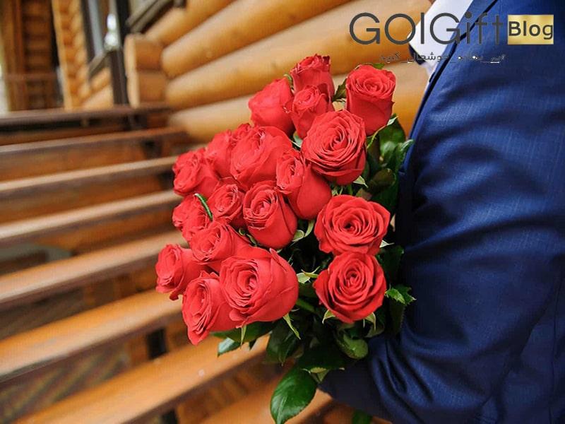 گل گیفت | خرید دسته گل خواستگاری با گل رز
