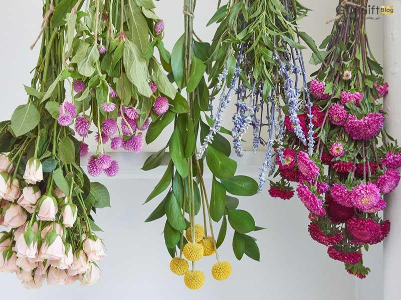 گل گیفت | نگهداری دسته گل خشک شده