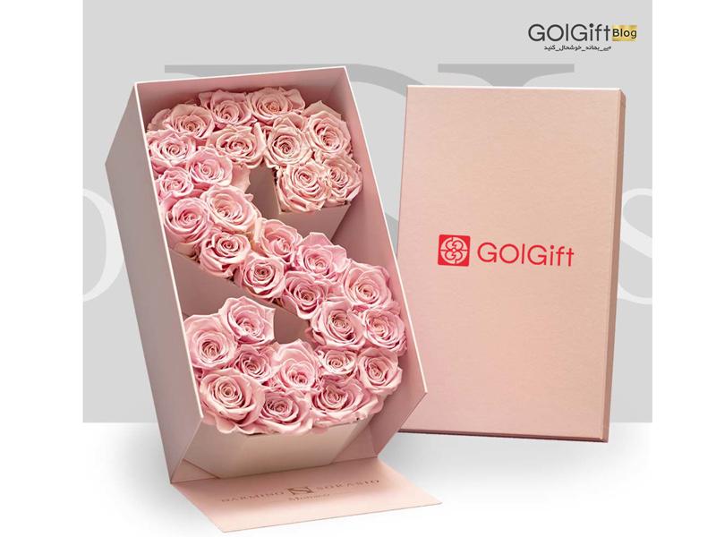 گل گیفت | باکس گل حروف