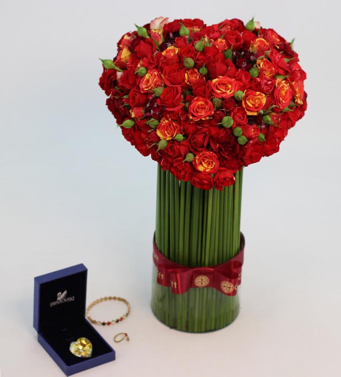 گل گیفت   باکس گل لاکچری