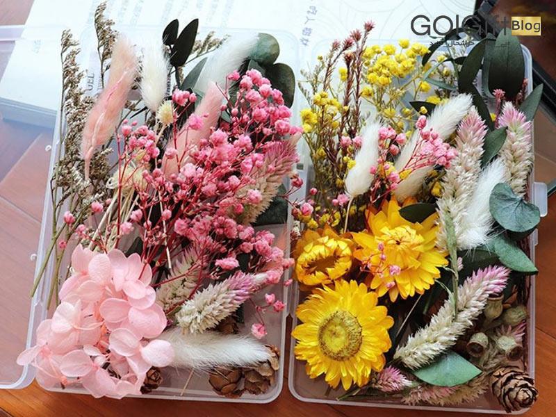 گل گیفت | چگونه باکس گل را خشک کنیم؟