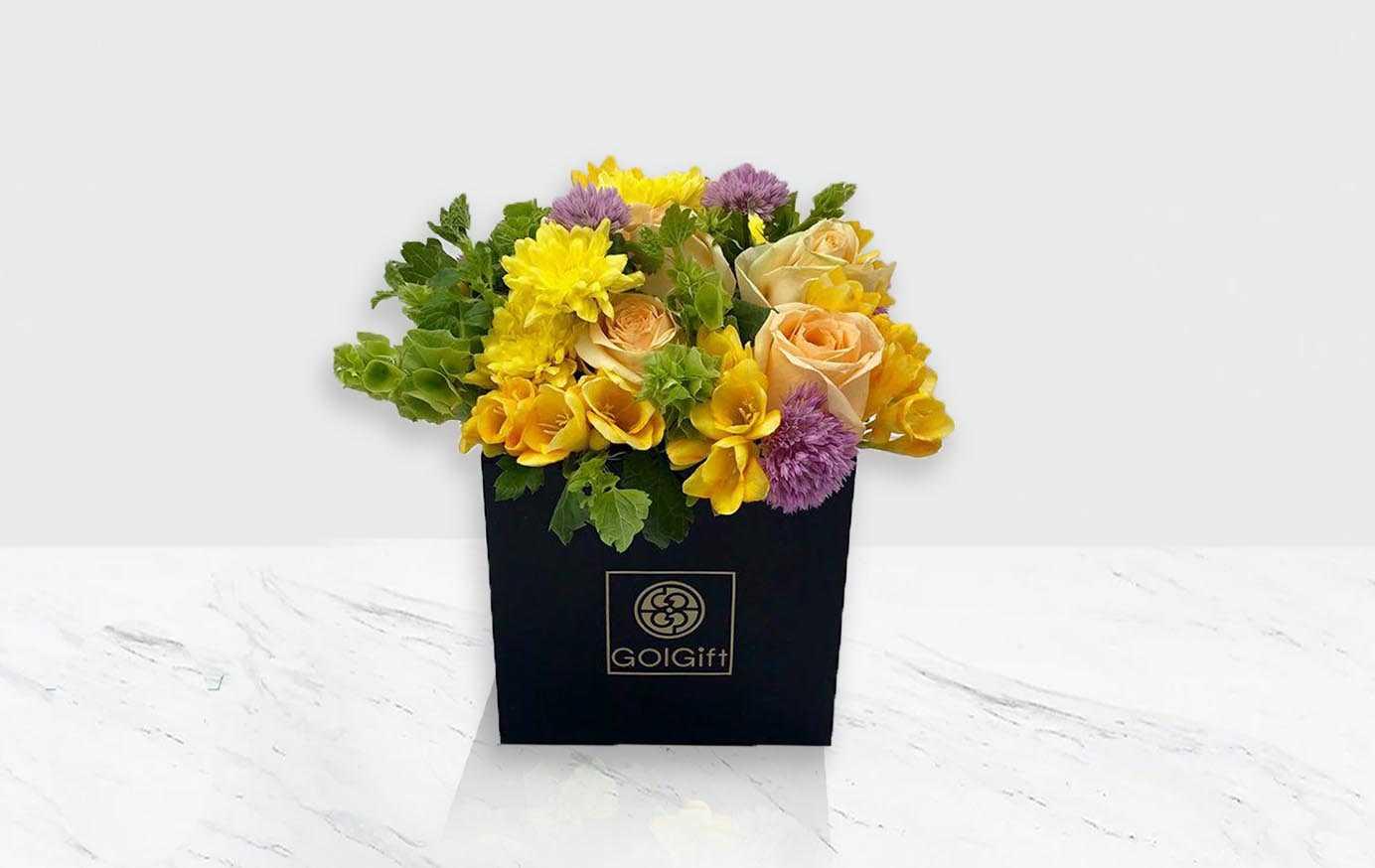 باکس گل مشکی فصلی