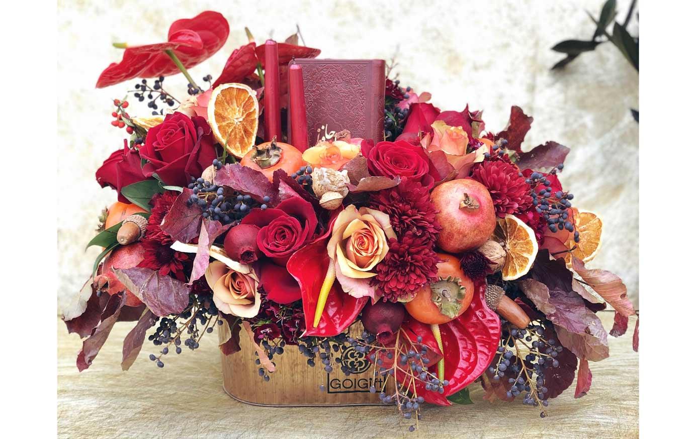 باکس گل رز یلدا