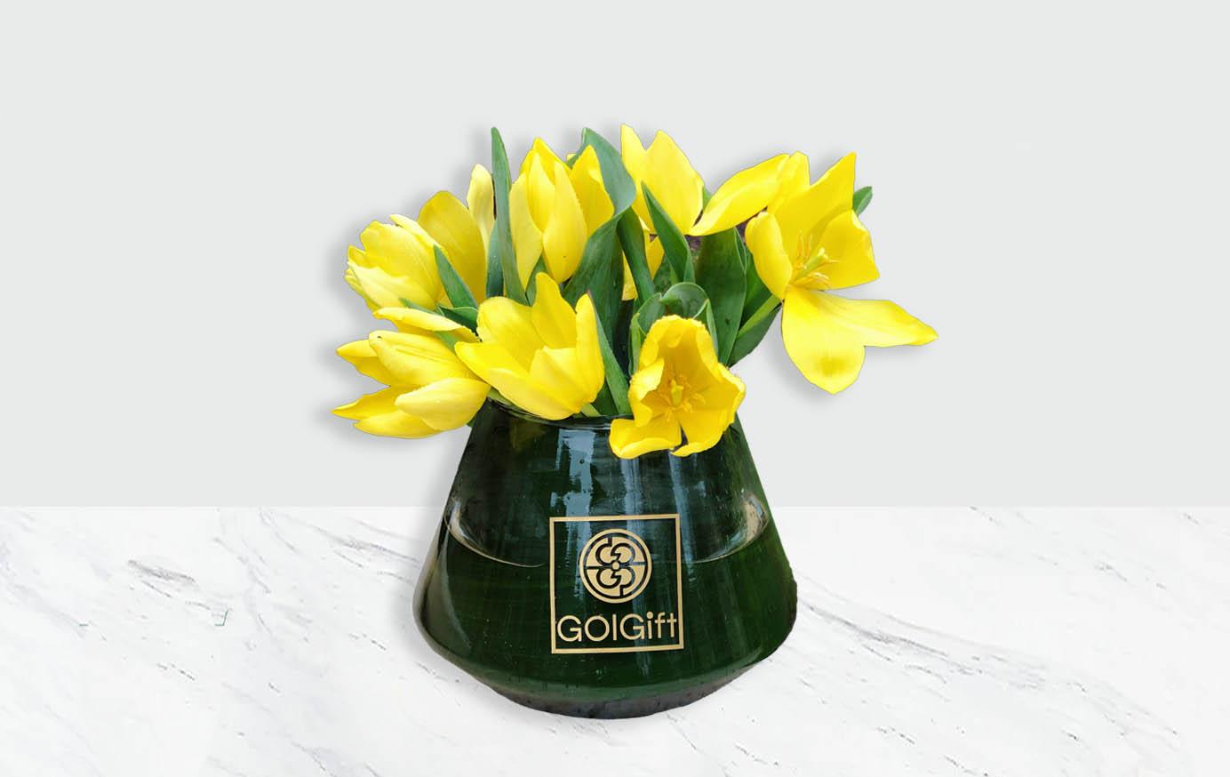 گلدان شیشه ای لاله