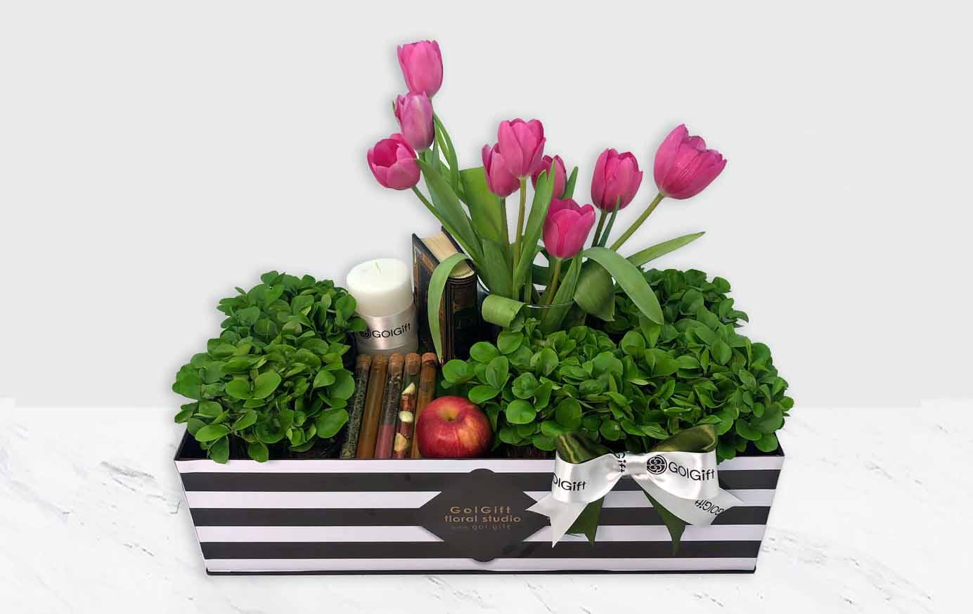 خرید باکس گل لاله عید نوروز
