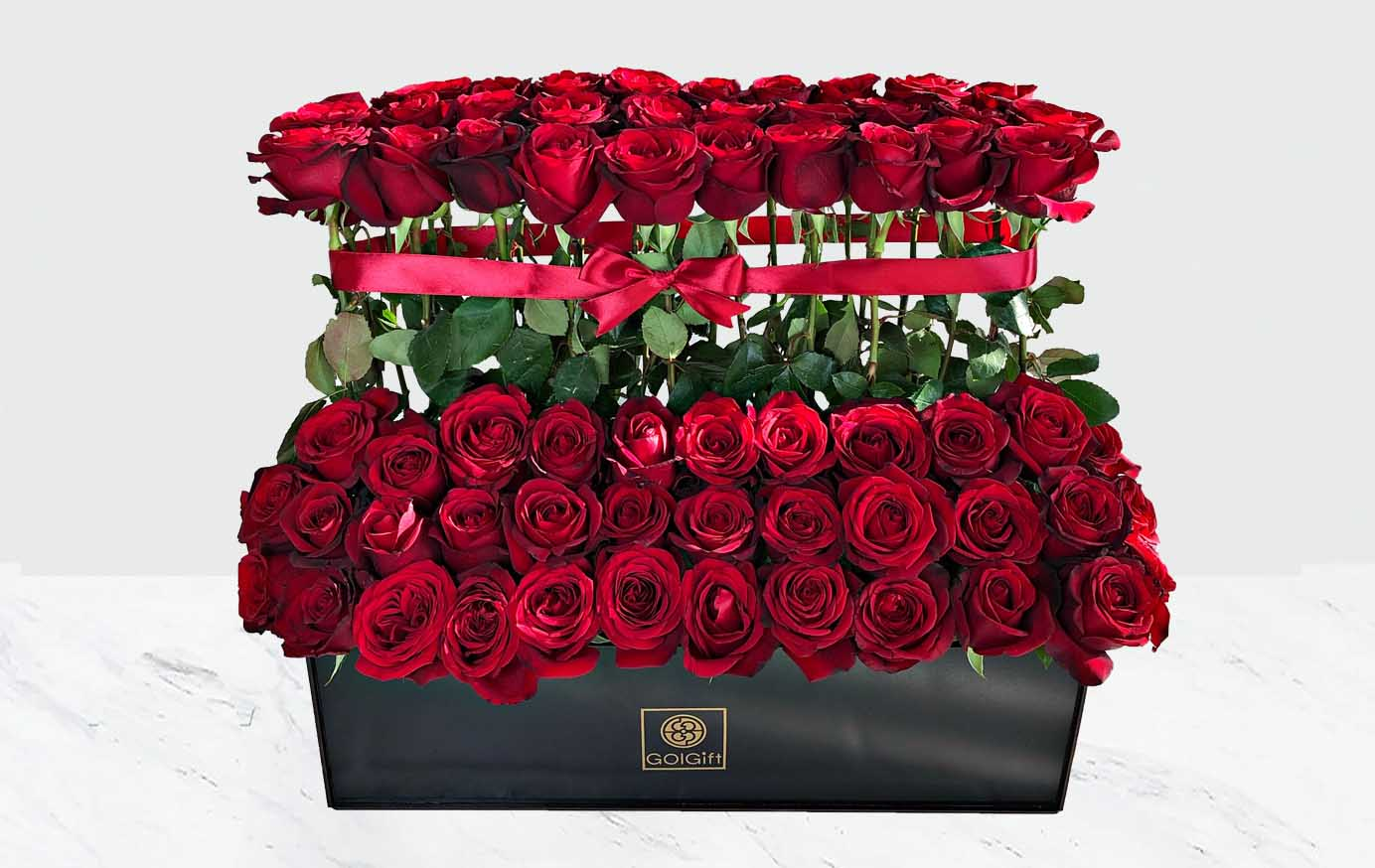 70 شاخه گل رز قرمز هلندی