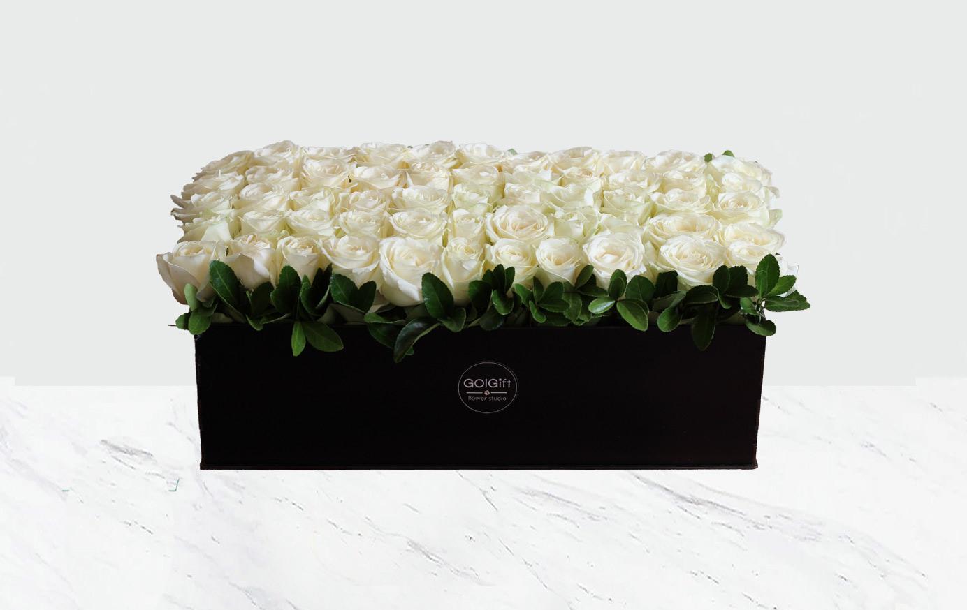 50 شاخه رز سفید