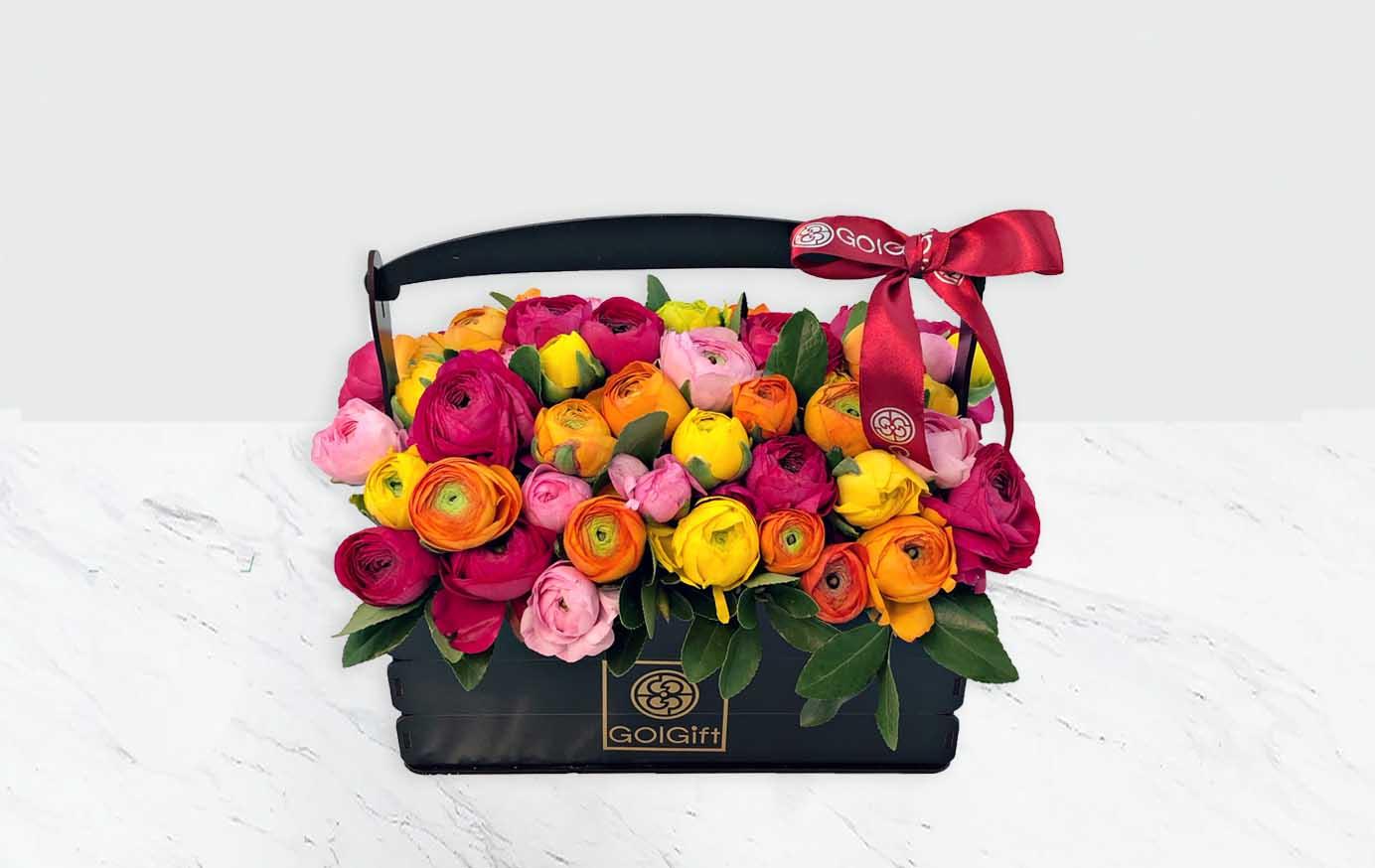 خرید سبد گل آلاله