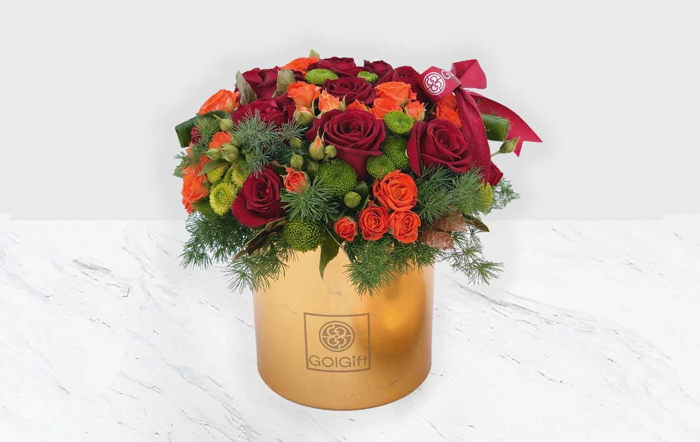 باکس طلایی گل رز