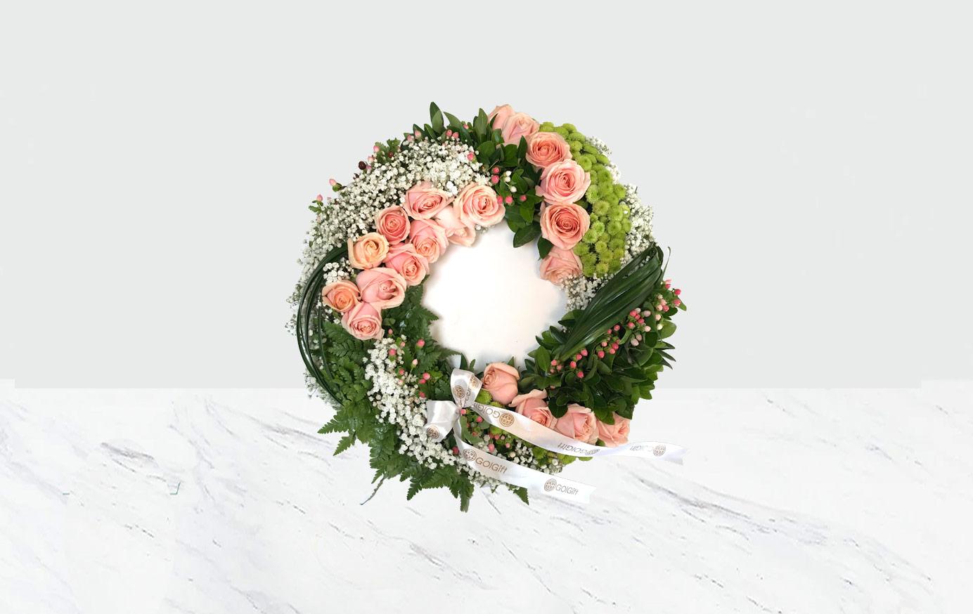 رینگ گل رز گلبهی