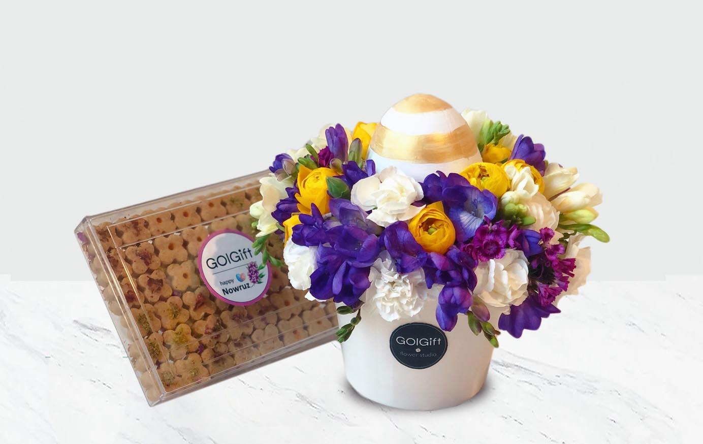 باکس گل بهاری سفید