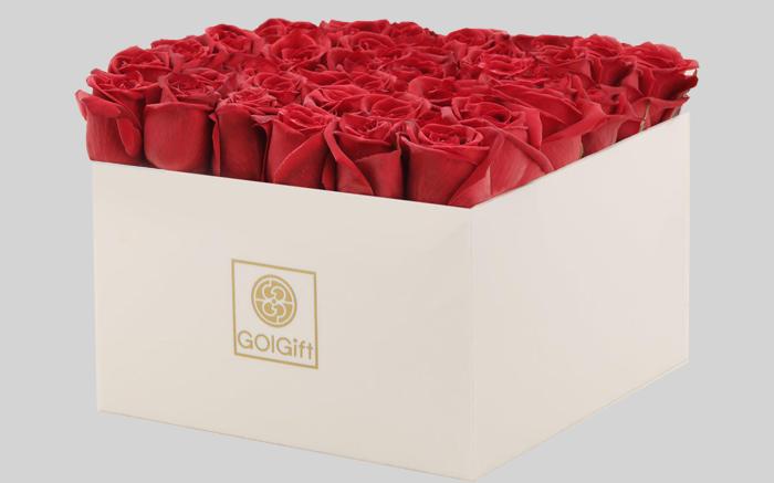 دسته گل جعبه ای