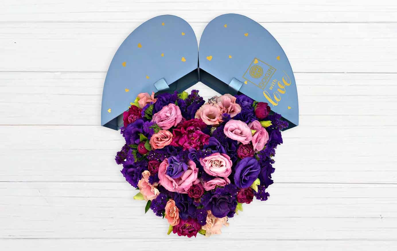 خرید گل پیونی قلبی