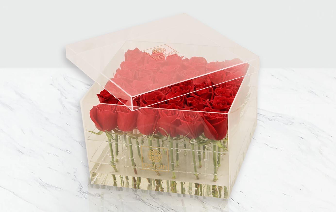 باکس شیشه ای رز هلندی