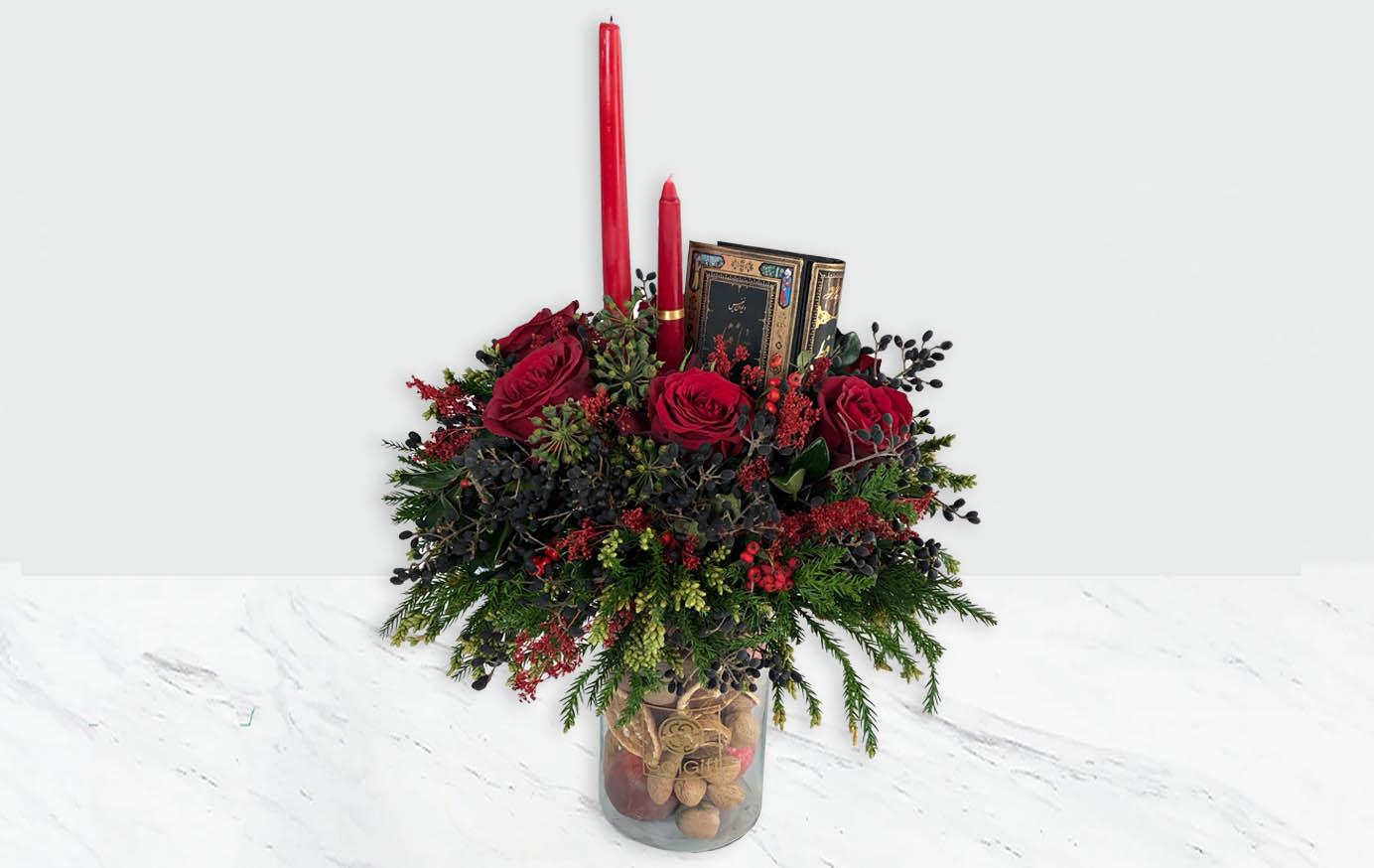 گلدان شیشه ای شب یلدا